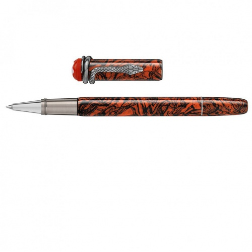 MONTBLANC roller Heritage Rouge et Noir Serpent Marble Special Edition 119853