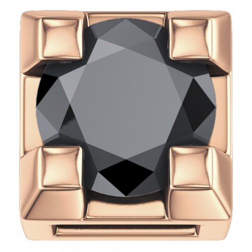 ELEMENTS 750 ROSE GOLD CLAW WITH BLACK DIAMOND DCHF3305.002